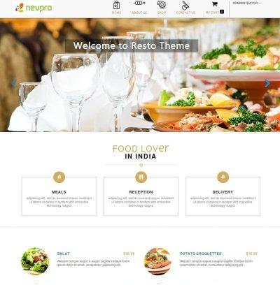 Odoo Restaurant Theme