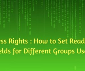 Access Rights : How to Set Readonly Fields for Different Groups Users?