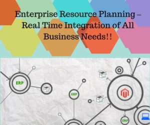 Enterprise Resource Planning – Real Time Integration of All Business Needs