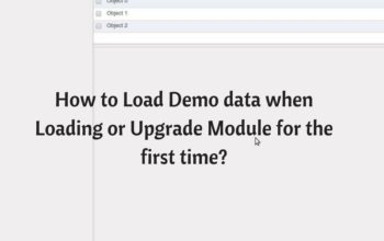 How to Load Demo data when Loading or Upgrade Module for the first time?