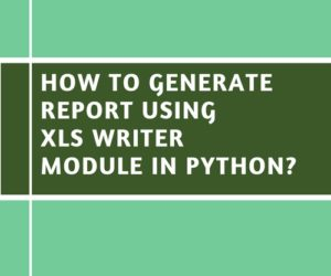 How to Generate Report Using xlswriter Module in Python?