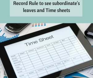 How to see subordinate's leave and Time sheets with Record Rule?