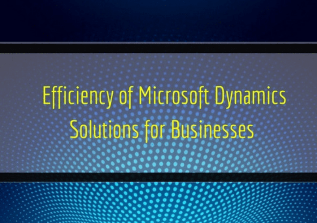Efficiency of Microsoft Dynamics Solutions for Businesses