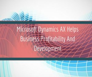 Microsoft Dynamics AX Helps Business Profitability And Development