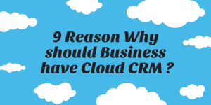 Read more about the article 9 Reason Why should Business have Cloud CRM?