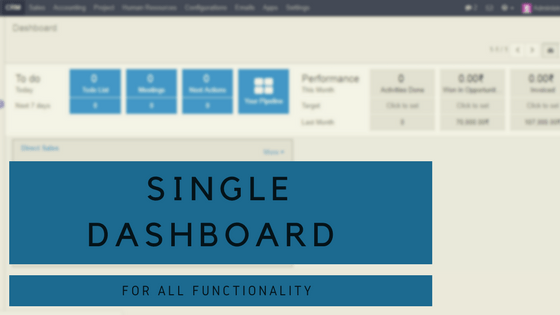 single dashboard