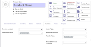 Read more about the article Creating new taxes and setting them as default to product template in Odoo ERP