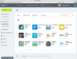 Apps & Integrations in BitrixCRM
