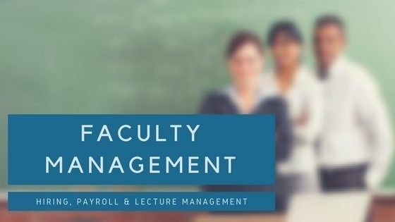 Faculty Management