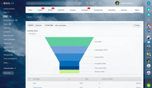 Reports and Sales Funnels in Bitrixcrm